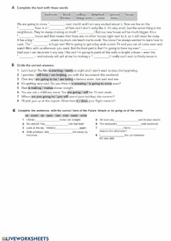 Interactive worksheet A place to call home: practice paper