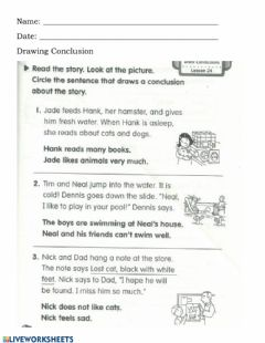 Interactive worksheet Drawing Conclusion