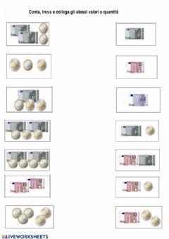 Interactive worksheet Euro