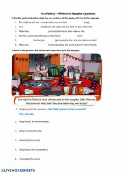 Interactive worksheet Past Perfect 3 (aff-neg-Int)