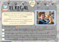 Interactive worksheet El regal
