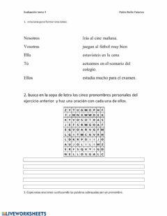Interactive worksheet Porque y por qué
