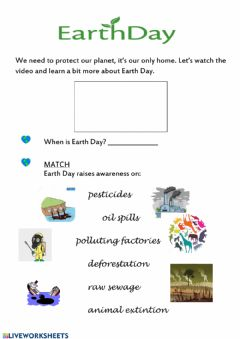 Interactive worksheet Earth Day