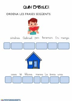 Interactive worksheet Ordenar frases-català