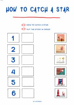 Interactive worksheet How to catch a star