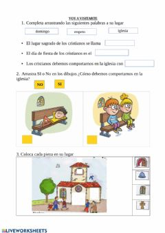 Interactive worksheet Voy a visitarte