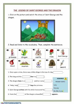 Interactive worksheet The legend of Saint George