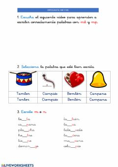 Interactive worksheet 27ABRIL Mp y mb