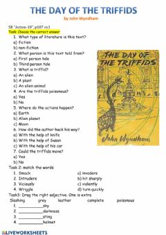 Interactive worksheet The day of the triffids