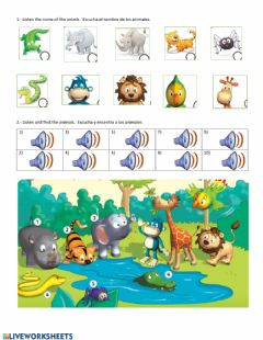 Interactive worksheet In the jungle