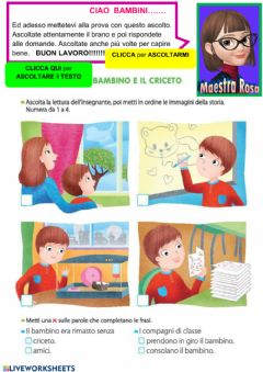 Interactive worksheet Ascolto