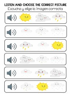 Ficha interactiva Listen and choose the correct one