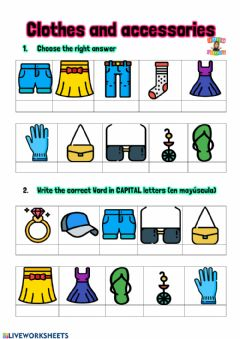 Interactive worksheet Clothes and accessories
