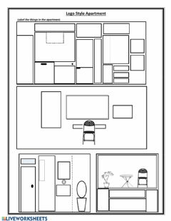 Interactive worksheet Housing -- Lego Style Apartment