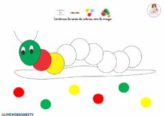 Interactive worksheet Serie de colores