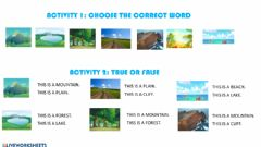 Interactive worksheet Vocabulary Landscapes