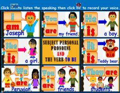 Ficha interactiva Subject Personal Pronouns and the verb To Be.