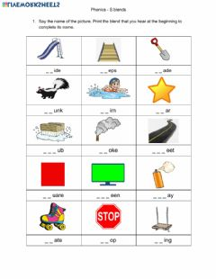 Interactive worksheet Phonics - S Blends part 2