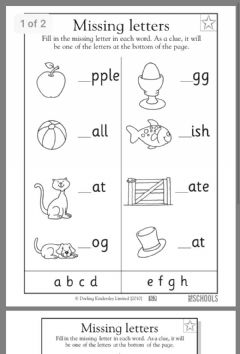 Ficha interactiva Missing Letter Worksheet 2