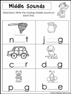 Ficha interactiva Missing Letter Worksheet 3