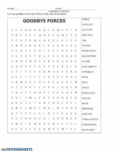 Interactive worksheet Goodby Forces