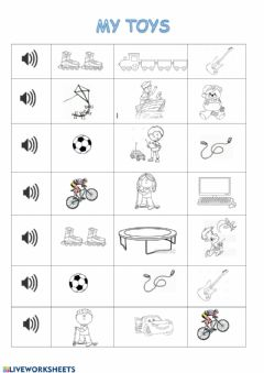 Interactive worksheet MY TOYS for class 2