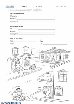 Interactive worksheet English year 4 - Present continuous