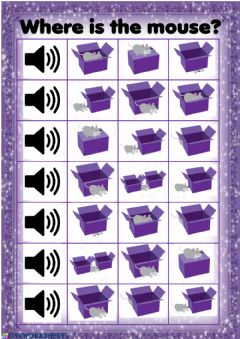Interactive worksheet Prepositions of Place Listening Exercise