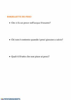 Interactive worksheet Indovinelli