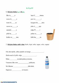 Interactive worksheet B, p, pp