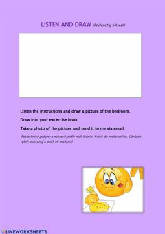 Interactive worksheet Listen and draw