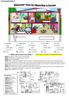 Interactive worksheet Describing a house