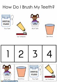 Interactive worksheet How Do I Brush My Teeth?