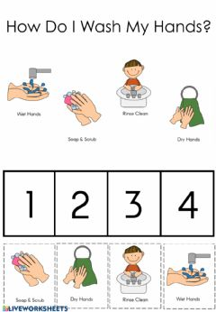 Interactive worksheet How Do I Wash My Hands?