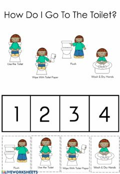 Interactive worksheet How Do I Go To The Toilet?