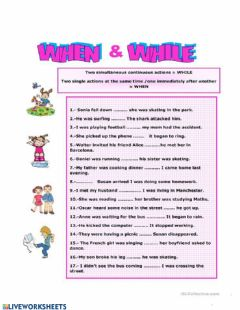Interactive worksheet When and While 2