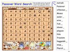 Interactive worksheet Passover word-search