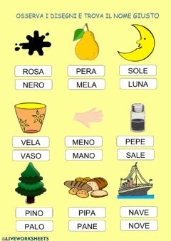 Interactive worksheet Trova il nome
