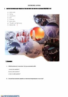Interactive worksheet Extreme weather