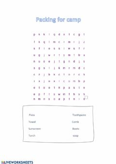 Interactive worksheet Find the words!