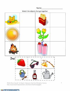 Interactive worksheet What Goes Together