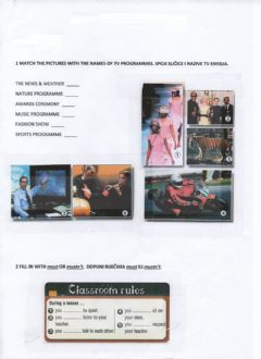 Interactive worksheet TV programmes-must, mustn't