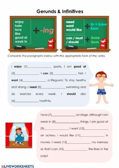 Interactive worksheet Gerunds & Infinitives