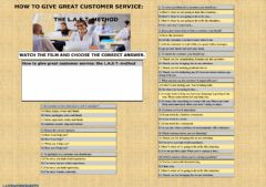 Ficha interactiva How to give great customer service? L.A.S.T.method