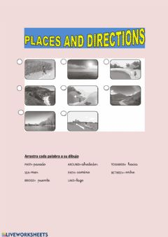 Interactive worksheet PLACES AND DIRECTIONS