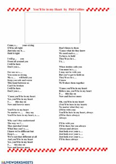 Interactive worksheet Song