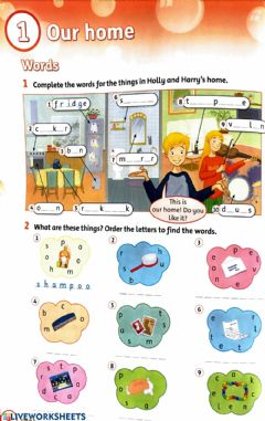 Interactive worksheet FLYERS - Unit 1 - Our Home