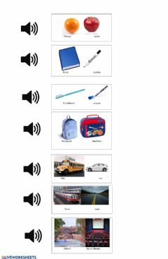 Interactive worksheet Identify objects