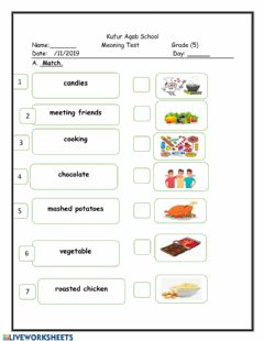 Interactive worksheet Meaning