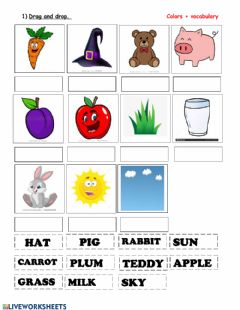 Interactive worksheet Colors +vocabulary